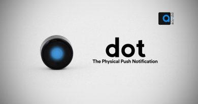 گجت دات DOT ، کاملا هوشمندانه بنابر موقعیت مکانی، زمانی و الگوی رفتاری ، نیازهایتان را پیش بینی میکند و این کار را بدون نیاز به جی پی اس به شما اعلام میکند