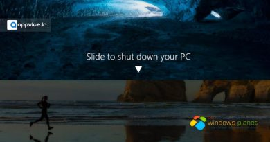 ترفند Slide to Shutdown ویندوز 10
