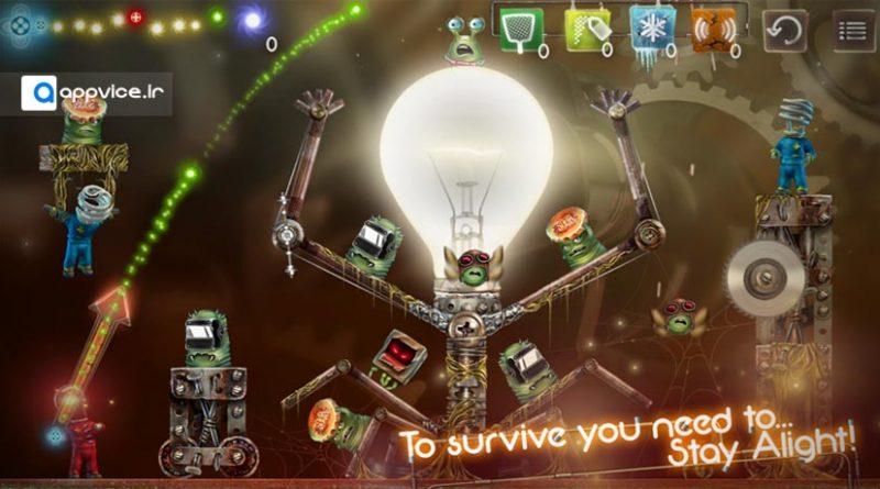 بازی stay alight یکی از جذاب ترین بازی های اندروید و iOS است که شما را ترقیب به نجات دنیا می نماید