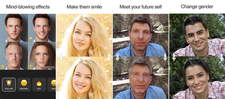 اپلیکیشن faceapp روشی علمی برای پیر کردن، جوان کردن و تغییر جنسیت عکسها