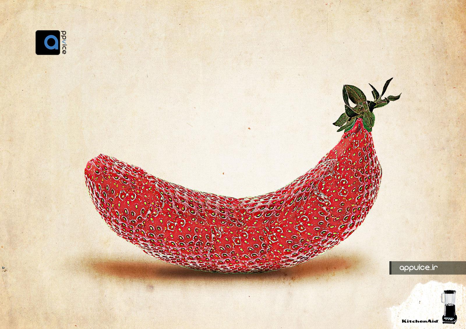 تبلیغات خلاقانه مخلوط کن برند KitchenAid
